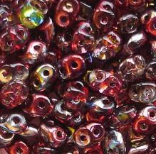 Superduo Beads Magic Red Brown - 10 grams